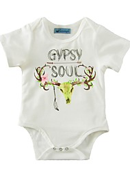 Baby Print One-Pieces Cotton Summer Short Sleeve Floral Girls Infant Romper Newborn Jumpsuits