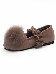 Women's Loafers & Slip-Ons Light Soles Fall PU Walking Shoes Casual Flat Heel Khaki Green Black Under 1in