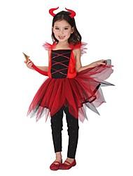 Une Pièce/Robes Costumes de Cosplay Pour Halloween Ange et Diable Esprit Cosplay Fête / Célébration Déguisement d'Halloween RétroRobes