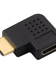 HDMI 1.4 Adaptador, HDMI 1.4 to HDMI 1.4 Adaptador Macho-Fêmea Cobre banhado a ouro