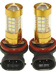 Sencart 2pcs h8 pgj19-1 ampoule clignotante led voiture arrière tournez les ampoules arrière (blanc / rouge / bleu / blanc chaud) (dc /
