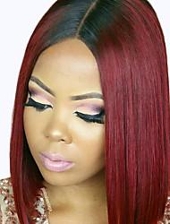 Ombre t1b / burgundy capelli vergini brasiliani capelli bob parrucche diritte parrucche per capelli parrucche parrucche parrucche remy