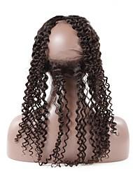 Глубокая волна 360 кружевных лобных малайзийских remy волос 130% плотность швейцарских кружев с отбеленными узлами 100% человеческих волос