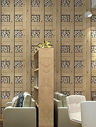 Pattern Wallpaper For Home Stylish Wall Covering , Non-woven fabric Material Adhesive required Wallpaper , Room Wallcovering