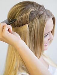 20inch невидимая проволока переворот в наращивании человеческих волос одна часть удлинителя для рук 100g