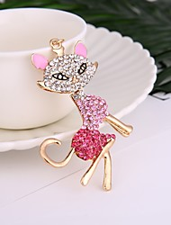 Fashion Hot Selling Alloy Diamond-Encrusted Fox Dey Chain Lady's Handbag Hang The Accessories