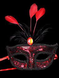 1pc маленькая шляпа волос группа для Хэллоуина костюм участник плоский золотой серебристый маскарад маска перо окраска маска партия цвет