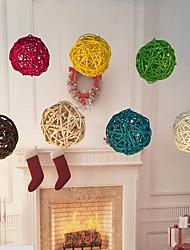20pcs / pack 3cm festa de aniversário decoração casamento decoração rattan bola natal decoração casa ornamento decoração de casa