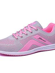 Femme Chaussures d'Athlétisme Confort Tulle Printemps Automne Décontracté Golf Lacet Talon Plat Plateforme Noir Bleu de minuit Gris5 à 7