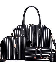 Damen Bag Sets PU Ganzjährig Normal Baguette Bag Reißverschluss Blau Schwarz Rosa Grau