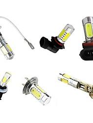 2PCS High Bright 7.5W White DC12V H7 H3 H1 H8 H11 9005 9006 881 COB LED  With Lens Turn Signal Brake Stop  Fog Day Running Bulb Lamp For Auto Car