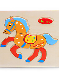Jigsaw Puzzles Jigsaw Puzzle Building Blocks DIY Toys Horse Wooden