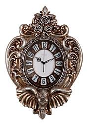 Модерн Традиционный Деревенский Повседневный Ретро Животные Настенные часы,Слон Часы Животный принт Резина В помещении Часы