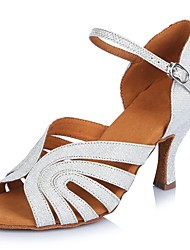 2017 Classic Brand Professional Modern Latin Sandals Customizable Women's Dance Shoes  Heel-Height 6.5CM shoes White