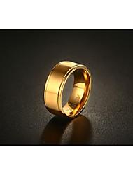 Herrn Bandringe Modisch Vintage Simple Style Gold Titan Stahl Kreisform Runde Form Schmuck Für Hochzeit Verlobung Alltag Zeremonie