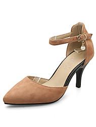 Women's Sandals Basic Pump Nubuck leather Summer Wedding Office & Career Party & Evening Dress Basic Pump Hollow-out Stiletto HeelYellow