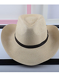 Women's Linen Straw Hat,Party Casual Patchwork