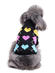 Cane Maglioni Abbigliamento per cani Casual Cuori