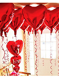 10pcs - 10inch Red Heart Shaped Balloons Beter Gifts® DIY Party Decoration