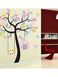 Animaux A fleurs/Botanique Romance Stickers muraux Autocollants avion Autocollants muraux décoratifs Matériel Décoration d'intérieur
