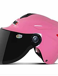 HELMET YM-327 Motorcycle Helmet Electric Car Helmet Men And Women Summer Half Helmet Sunscreen Rain Helmet Half Makeup