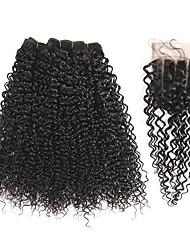 Tissages de cheveux humains Cheveux Brésiliens Très Frisé 1 An 5 Pièces tissages de cheveux kg Mèches Rapides