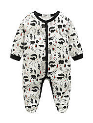 Baby Print One-Pieces,100%Cotton Autumn/Fall Long Sleeve
