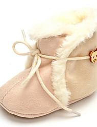 Bebé Bailarinas Confort Botas de Moda Tejido Otoño Invierno Boda Casual Vestido Fiesta y Noche Con Cordón Tacón Plano Beige Plano