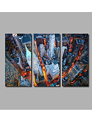 3 Pieces Traffic Lights ScenePainting Framed For Modern Home Wall Art Decor Posters City Metropolis Landscape Prints HD Large
