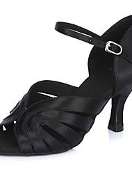 2017 Classic Brand Professional Modern Latin Sandals Customizable Women's Dance Shoes  Heel-Height 6.5CM shoes Black