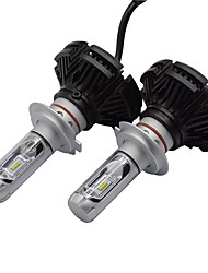 1 kit x3 led headlight kit 50w 6000 lm zes chips condotto con luce luminosa eccellente