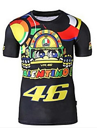 Motorcycle T-Shirt Riding Short-Sleeved Quick-Drying Clothes 46 Rossi Doll Fans