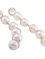Women's Drop Earrings Imitation PearlBasic Dangling Style Pendant Circle Imitation Pearl Fashion Personalized Hypoallergenic Statement