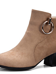 Women's Shoes Chunky Heel Pointed Toe Ankle High Boot With Zipper More Color Available