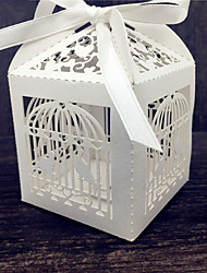 50pcs/lot Lovely Birds Wedding Candy Box Sweets Gift Favor Boxes With Ribbon Birthday Party Decoration Supplies.