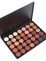 35W Warm Eyeshadow Palette All-in-One Bronze Blending Peachy Shades Shimmery Matte Gorgeous Professional Kit Highlight Glitter Powder Pallet