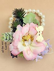 """Fleurs de mariage Petit bouquet de fleurs au poignet Cérémonie de mariage Occasion spéciale Perle 2.76""""(Env.7cm)"""