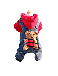 Dog Clothes/Jumpsuit Dog Clothes New Year's Jeans Ruby Yellow