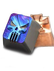 Batterie bleue transparente en titane réglée pour clavier mécanique imprimé