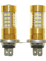 Sencart 2pcs h7 px26d ampoule clignotante led voiture arrière tournez les ampoules inverses (blanc / rouge / bleu / blanc chaud) (dc /