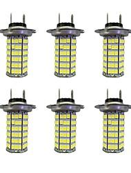 4w h7 120smd2835 lampe antibrouillard pour voiture dc12v blanc 6pcs