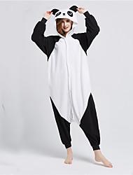 Kigurumi Pijamas Panda Collant/Pijama Macacão Festival/Celebração Pijamas Animais Dia das Bruxas Preto branco Patchwork Lã Polar Kigurumi