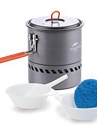 Naturehike Batería de cocina para camping Olla para camping Solo Portátil Alúmina Dura PP (Polipropileno) Aluminio Acero Inoxidable para