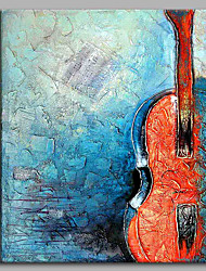 Lonely Violin 100% Hand Painted Contemporary Oil Paintings Modern Artwork Wall Art for Room Decoration