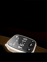 Women's Men's Smart Watch Mechanical manual-winding Rubber Band Black Brown