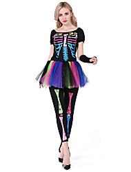 Costumes de Cosplay Bal Masqué Squelette/Crâne Cosplay Fête / Célébration Déguisement d'Halloween Autres Rétro Haut Pantalon Manche