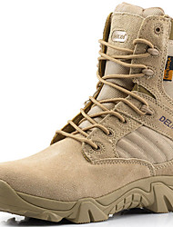 Men's Boots Bootie Fall Winter Suede Canvas Hiking Shoes Athletic Casual Outdoor Beige Black 1in-1 3/4in