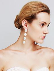 Women's Earrings Set Imitation Pearl Pendant Movie Jewelry Euramerican Fashion Personalized Copper Circle Jewelry ForAnniversary