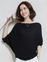 Women's Batwing Sleeve Knitwear Loose Knitted Cashmere Sweater