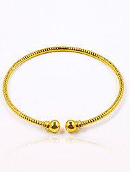 Men's Women's Cuff Bracelet Basic Fashion Vintage Punk Personalized Hip-Hop Gold Plated Oval Round Jewelry For Party Birthday Gift Daily